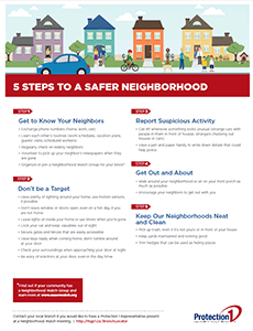 5 Steps to a Safe Neighborhood Download